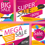 New Year's Shopping Discount Promotion 2019 Vector