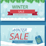 New Year's Snow and Green Leaf Promotion 2019 Vector