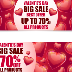 Heart-shaped promotional template 2019 Vector