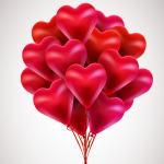 Heart shaped bouquet 2019 Vector