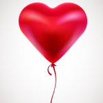Heart-shaped balloon 2019 Vector