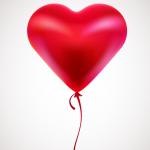 Heart-shaped balloon 2019 Vector
