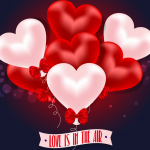 Heart-shaped balloon flowers 2019 Vector