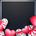 Heart-shaped frame 2019 Vector