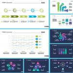 Information presentation chart 2019 Vector