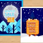 Snowscape promotional map 2019 Vector