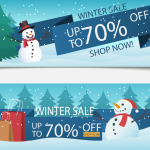 Snowman Decoration Promotion 2019 Vector