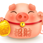 Lovely pigs that make money 2019 Vector
