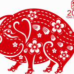 Chinese New Year Pig Year 2019 Vector