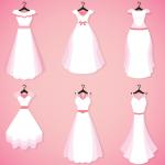White Wedding Dress Design 2019 Vector