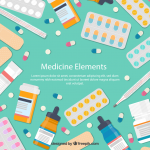 Flattened Medical Element Framework Design 2019 Vector