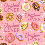 Seamless Background for Painted Donuts 2019 Vector
