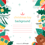 Painted toy border stationery 2019 Vector