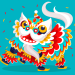 Colorful Festival lion dance 2019 Vector