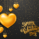 Golden Heart Celebrates Valentine's Day 2019 Vector
