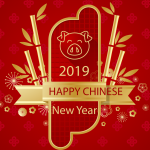 Golden Bamboo Card 2019 Vector