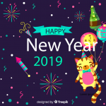 Cute kitty 2019 Vector