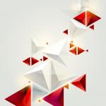 Geometric stereo pattern 2019 Vector