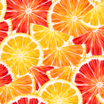Lemon and grapefruit background 2019 Vector