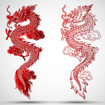 Chinese Dragon Paper-cut 2019 Vector
