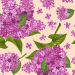 Purple lilac background 2019 Vector