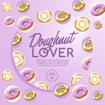 Purple donut posters 2019 Vector