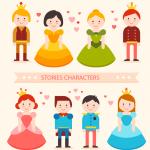 Creative Princess Prince Character 2019 Vector