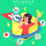 Creative Women Influencers Marketing Illustrations 2019 Vector
