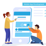 Creative Mobile Application Development for Men and Women 2019 Vector