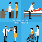 Creative Doctor and Patient Design 2019 Vector