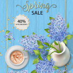 Creative Lilac Spring Promotion Poster 2019 Vector