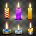 Candles in Lighting 2019 Vector