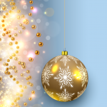Dream Background of Hanging Ball Snowflakes 2019 Vector