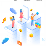 Concept landing page 2019 Vector