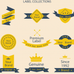 Yellow Label Design 2019 Vector