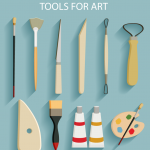 Fine Painting Tools 2019 Vector