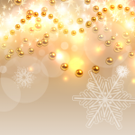 Golden Globe Snow Dream Background 2019 Vector