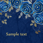 Blue Rose Background 2019 Vector