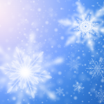 Blue Snow Dream Background 2019 Vector