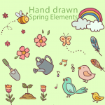 Hand-drawn animation elements 2019 Vector