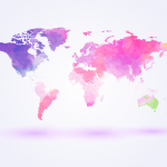 Watercolor World Map 2019 Vector