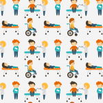 Seamless Background of Hospital Children 2019 Vector