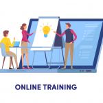 Online Training Illustration 2019 Vector