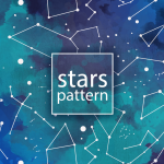 Seamless Background of Colored Sky Stars 2019 Vector