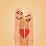 Creative finger couples 2019 Vector