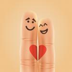 Creative finger couples 2019 Vector