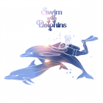 Dolphins and divers 2019 Vector