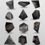 Black polygon lattice pattern 2019 Vector