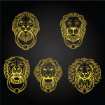 Collection of Yellow Lion Gate Rings 2019 Vector