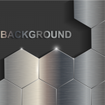 Geometric Metal Background 2019 Vector